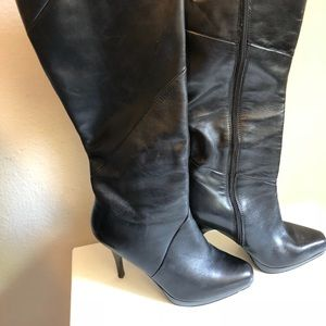 Michael Kors Zeena Leather Platform Stiletto Boots